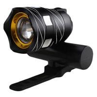 1X(Luz delantera de bicicleta impermeable LED T6 recargable USB Lampara luz d YQ