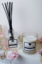 Candle & Diffuser Gift Set Cosy Home Scented Soy Wax With Luxury Gift Box