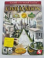 Sid Meier's Civilization IV Game of the Year Edition - (PC) CD-ROM  with Sleeve