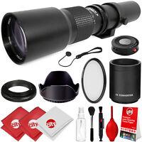 Opteka 500mm/1000mm f/8 Super Telephoto Lens for Canon EOS EF Mount DSLR Cameras