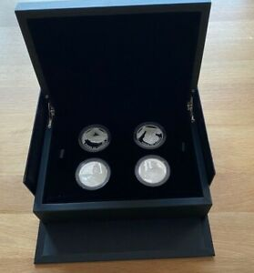2019 TOWER OF LONDON - YEOMAN WARDERS, £5 SILVER PROOF, FOUR-COIN SET