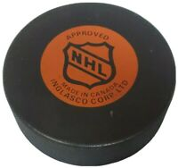 CRACKING LOGO! QUEBEC NORDIQUES APPROVED NHL INGLASCO OFFICIAL HOCKEY PUCK 🇨🇦