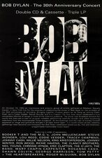 "28/8/93PGN42 BOB DYLAN : THE 30TH ANNIVERSARY CONCERT ALBUM ADVERT 10X7"""