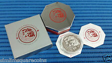 2000 Singapore 2 oz Lunar Year of the Dragon $10 Silver Piedfort Proof Coin