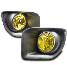 15-17 GMC CANYON PICKUP FRONT BUMPER DRIVING FOG LIGHTS LAMP YELLOW W/BEZEL+BULB