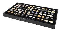 1 Large Cufflinks Storage Display Black Wooden Tray