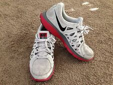 Nike Dual Fusion Run 2 Mens Size 13 Gray Red Shoes