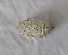 Unusual Victorian Silver Brooch with Passion Fruit? English Hallmarks 1889