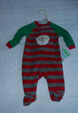 Striped Santa Sleeper, One piece, Newborn, long sleeves