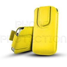 Botón De Cuero tire ficha Piel Funda bolsa se adapta a varios teléfonos Sony Ericsson