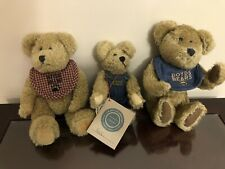 Boyds Bears Plush Bears In Bibs And Overalls Lot Of 3
