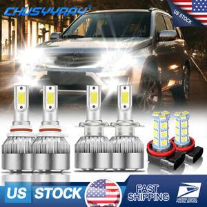 For Suzuki Grand Vitara 2006-2013 Combo 9005 H7 LED Headlight H11 Fog Light Kit