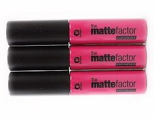 3 Pack Matte Factor Lip Paint MINERS Cosmetics Lipstick 5 Shades Make up Lips