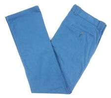 NEW BLOOMINGDALES CADET BLUE PIMA COTTON CLASSIC FIT CHINO PANTS SIZE 36X34