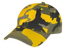 Low Profile Camo Cap Yellow Stinger Camouflage Baseball Hat Rothco 3553