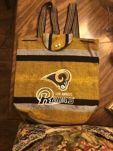 Los Angeles RAMS Handmade Backpack Aztec Tote Bag