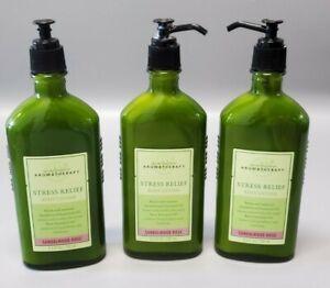 Bath & Body Works Aromatherapy Sandalwood Rose Body Lotion (Set of 3) *Broke Cap