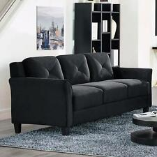 Black Sofa Microfiber Couch Living Room Seating Furniture NEW and GREAT price!