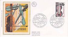 Enveloppe maximum 1er jour FDC Soie 1979 La Lutherie Métiers d'Art