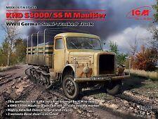 ICM 1/35 KHD S3000/SS M Maultier WWII German Semi-Tracked Truck # 35453