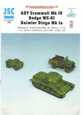 Card Model Kit – Cromwell tank, Dodge truck and Dingo scout car