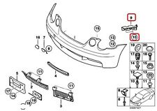 BMW NEW OEM 3 E46 COMPACT FRONT M SPORT BUMPER BRACKETS BOTH + FIXINGS RIVETS