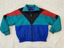 Vintage Cortina XL Puffer Jacket Ski Color Block Retro 90s Lightweight Colorful