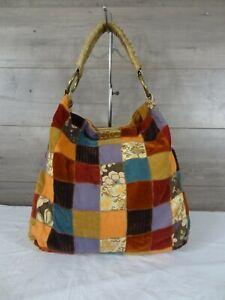 Lucky Brand Boho Patchwork Hobo Tote Handbag Purse
