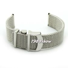 New 20 mm Shiny Quality Mesh Stainless Steel Bracelet Strap Watch Replace Band