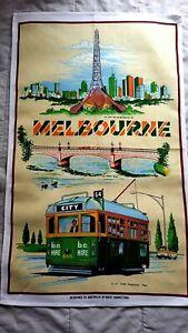 SALE 20%OFF Collectable Vintage Style Australia Souvenir Melbourne Tea Towel New