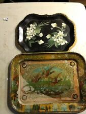 Lot Of 2 Vintage Trays
