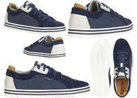 Scarpe da uomo Geox EOLO U028RA sneakers casual traspiranti comode basse blu