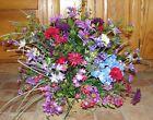 Purple Fuschia Hot Pink Wildflower Silk Flower Spray Bouquet Dining Table Decor