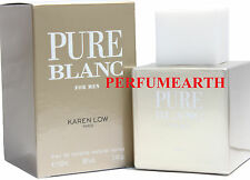 Pure Blanc by Karen Low 3.3 / 3.4 oz Eau De Toilette Spray for Men New In Box