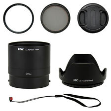 JJC P600K Kit Set (6PCS) with adapter filters cap for NIKON COOLPIX P600 P610 S