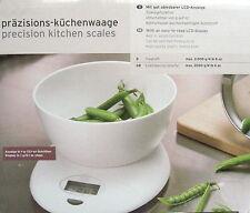 Präzisions Küchenwaage Waage mit hochwertiger Rührschüssel NEU / OVP