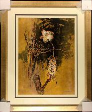 """Le Ba Dang """"The Rose"""" Hand Signed Framed Color Lithograph, Vietnam, Make Offer!"""