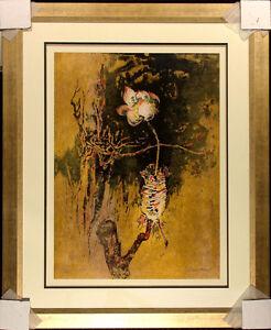 "Lebadang ""The Rose"" Hand Signed Framed Color Lithograph, Vietnam, Make Offer!"