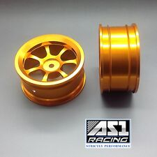 2 x 1/10 Scale 7 Spoke RC Car On Road Touring Wheel Rim Alloy, In 5 colors