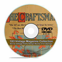 The Craftsman Magazine, Collection of 183 Issues, w/ Vintage House Books DVD V77
