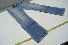 LTB Damen super slim Jeans Hose Stretch hellblau used look risse W29 L32 TOP #68