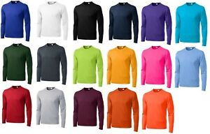 MEN'S MOISTURE WICKING DRY FIT SPORT-TEK Long Sleeve T-SHIRT NEW XS-4XLT ST350LS