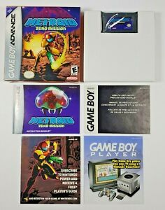 Metroid: Zero Mission (Game Boy Advance, GBA, 2004) Complete in Box - Minty