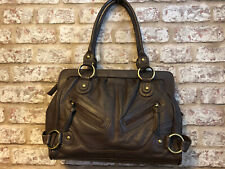 "Tommy & Kate Brown Slouch Real Leather Top Handle Bag 13"" X 10"" X 4"" VGC"