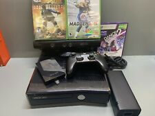 Microsoft Xbox 360 S Kinect Bundle 250GB Black Console plus games and controller
