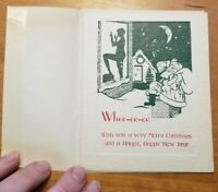 Vintage POSTCARD Christmas Cards Humor Comic UNUSED Santa Clause Naked Lady