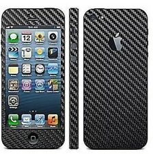 Black Carbon Fibre Full Body Decal Skin Protector Sticker For Apple iPhone 5 5S