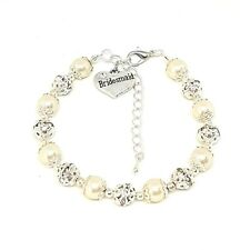Personalised Pearl Family Charm Bracelet, Perfect Birthday Present