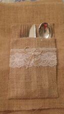 88 Burlap Cutlery Holders