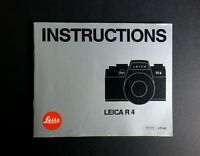 Leica R4 35mm SLR Camera Instruction Manual - English Edition